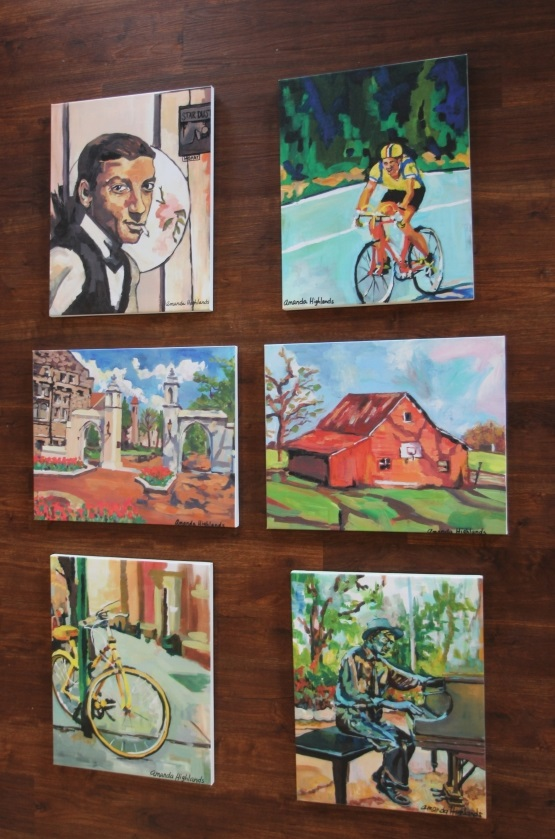 Local artist <b>Amanda Highlands created 6 beautiful paintings</b> featuring iconic Bloomington scenes. Each living room includes 2 paintings for you to enjoy during your stay.